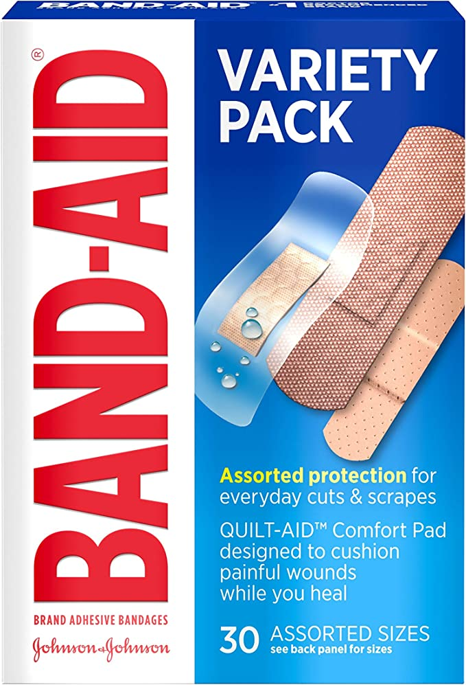 Band-Aid Brand Active Lifestyles Adhesive Bandage Variety Pack for First Aid, 30 ct: Amazon.com.mx: Salud y Cuidado Personal