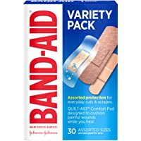 Band-Aid Brand Adhesive Bandage Family Variety Pack, Clear, Tough, and Sport Bandages, Assorted Sizes, 30 ct