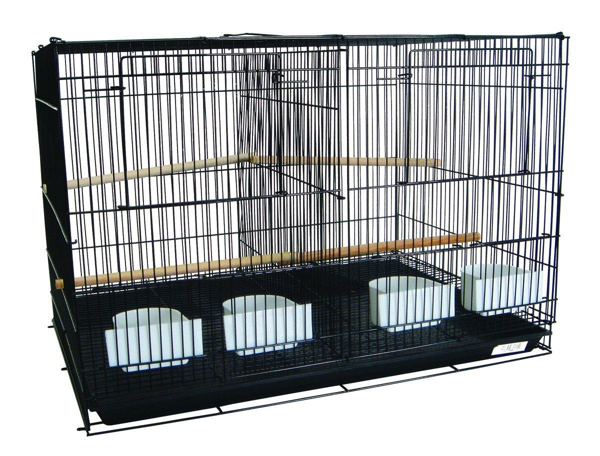 YML Medium Breeding Cages with Divider, 30 X 18 X 18-Inch Black A2464BLK