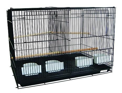 YML Mediano cría jaulas con Separador, 30 x 18 x 18 cm, Color ...