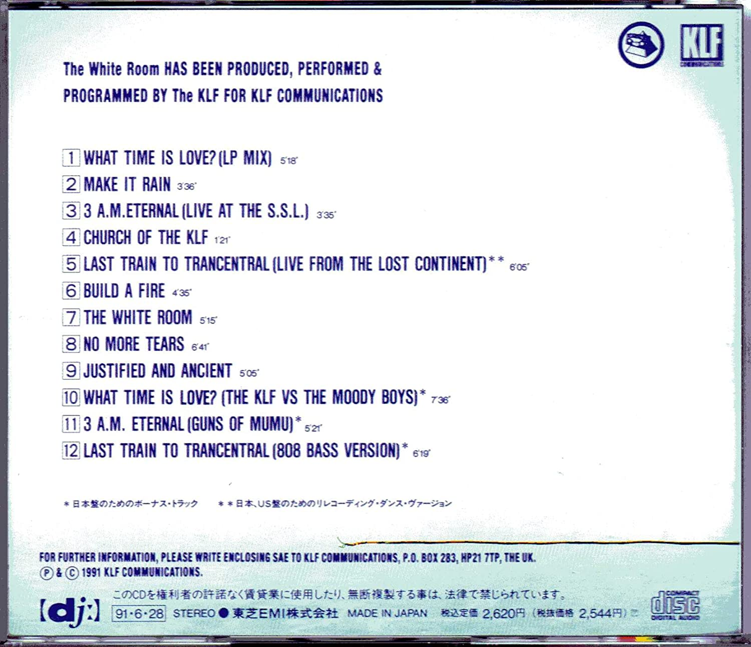 The Klf, the White Room +3 [Japan Import] (UK Import) by The Klf ...