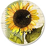 CounterArt Sunflowers in Bloom Absorbent Coasters, Set of 4