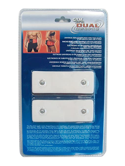 3 opinioni per Gymform GYMFORM09CAPTEUR- Kit elettrodi di ricambio per cintura Dual Shaper