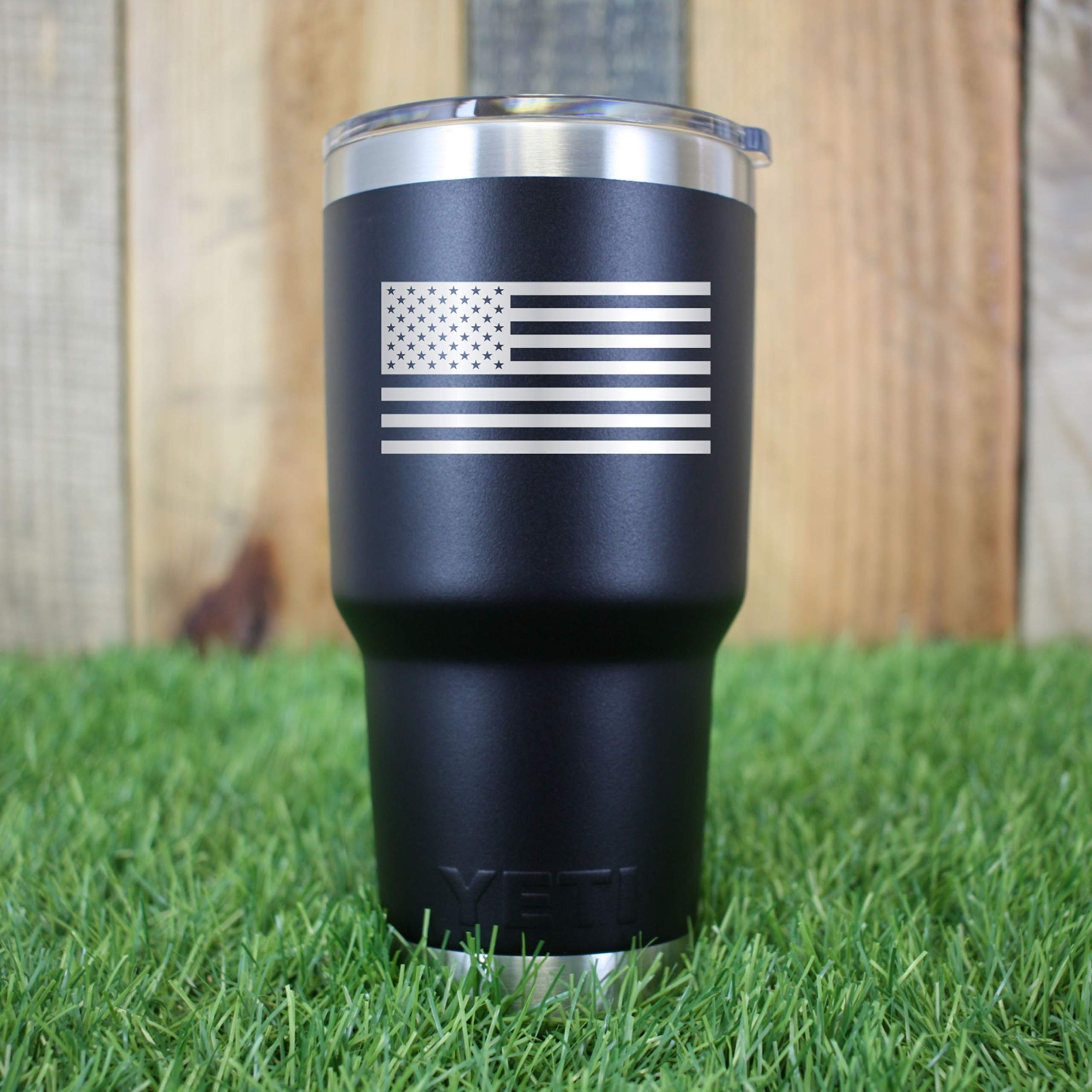 Engraved YETI Tumbler | American Flag | Patriotic Gift | Gift for Army Marines Navy AirForce | Guaranteed Authentic
