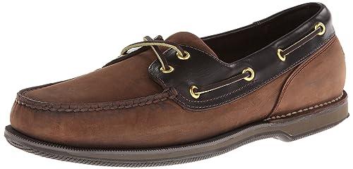 d88f47bd7e Rockport Men s Ports of Call Perth Chocolate Bark Boat Shoe 10. 5 XW ...
