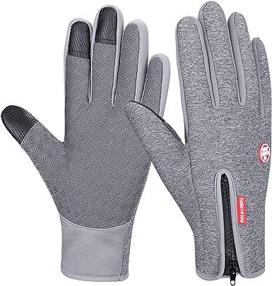 FengNiao Winter Thermal Gloves Men Women Touchscreen Windproof Running Skiing Driving Gloves
