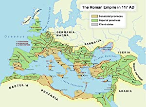 Map - Roman Empire in 117 CE Illustration Ancient History Encyclopedia Entrancing Maps of Us and Anchent Rome Vivid Imagery Laminated Poster Print 24 x 36