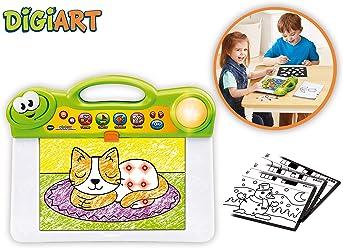 VTech DigiART Pizarra Luces Y Colores, Aprende A Dibujar Y Colorear Animales, Objetos Y