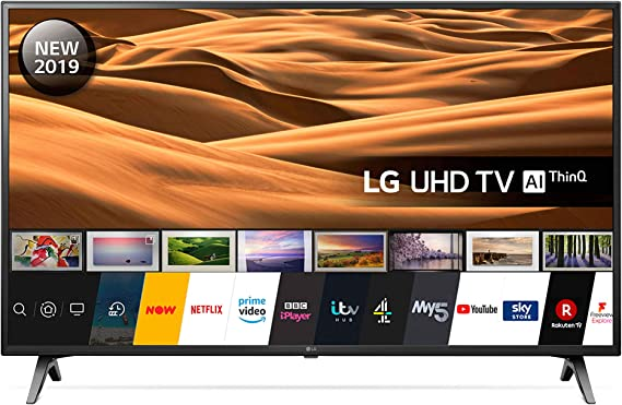 LG 49UM7100PLB 49 Inch UHD 4K HDR Smart LED TV with Freeview Play - Ceramic Black (2019 Model) Amazon exclusive [Energy Class A]