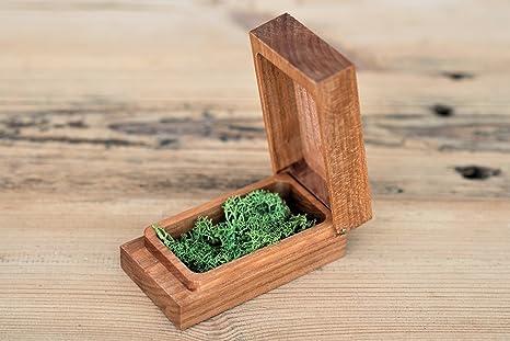 Caja de madera para memoria USB, caja de regalo para personalizar con USB de fotos, para boda, fotografía cereza Only box: Amazon.es: Electrónica
