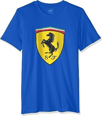 Puma Ferrari Big Escudo Camiseta de Hombre Camiseta Azul Coche Deportivo Fórmula 1 S-XL, tamaño: S ; Color: Azul: Amazon.es: Ropa y accesorios