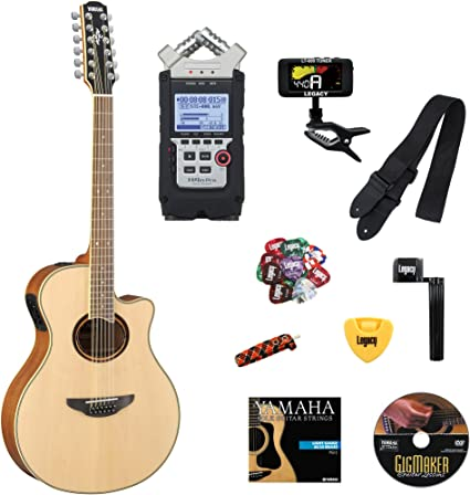 Yamaha apx700ii-12 guitarra electroacústica, 12 cuerdas, con ...