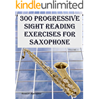 300 Progressive Sight Reading Exercises for Saxophone book cover
