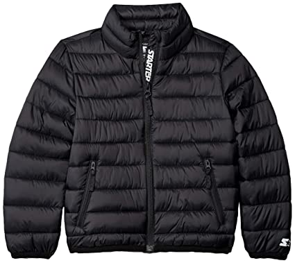 53e86d0c91 Starter Girls' Packable Puffer Jacket, Amazon Exclusive, Black, Extra Small