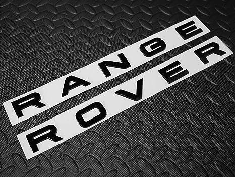 RangeRover Sport Vogue Velar Evoque Brillante Negro Juego de letras delantera y trasera