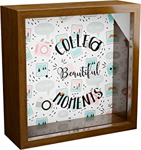 Photographer Gifts | 6x6x2 Wooden Shadow Box Ideal for Photographers | Keepsake Frame Gift for Photography Lovers | Camera Wall Decor | Themed Memory Boxes for Office or Studio Decor