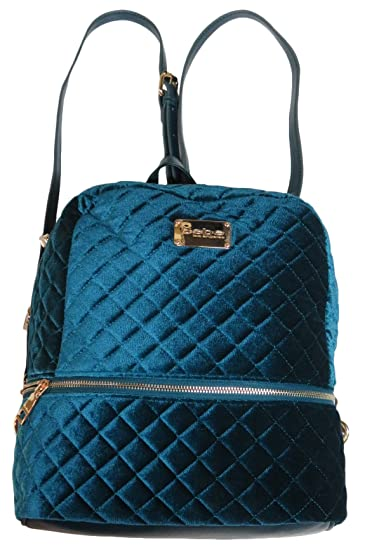 940e66af75ba Image Unavailable. Image not available for. Color  Bebe Danielle Velvet  Quilted Large Backpack ...
