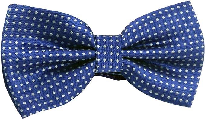 Einstecktuch Seide blau Polka Dots gepunktet