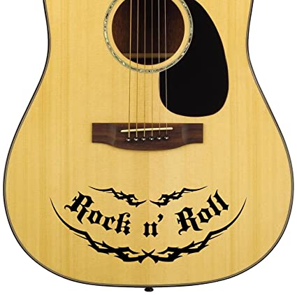 Amazon Com Pro Acoustic Rock N Roll Guitar Decal Sticker Pack Fits