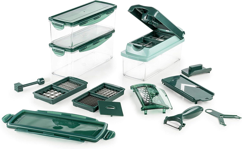 GENIUS-NICER DICER PLUS Compact 13 pièces Vert Légumes Schneider récipient Set