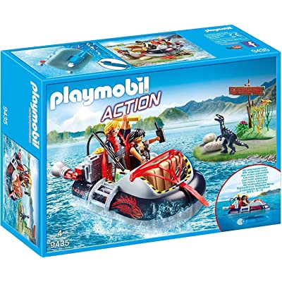 PLAYMOBIL Dino Hovercraft with Underwater Motor: Toys & Games