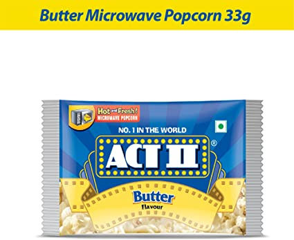 Act II Microwave Butter Popcorn, 33g