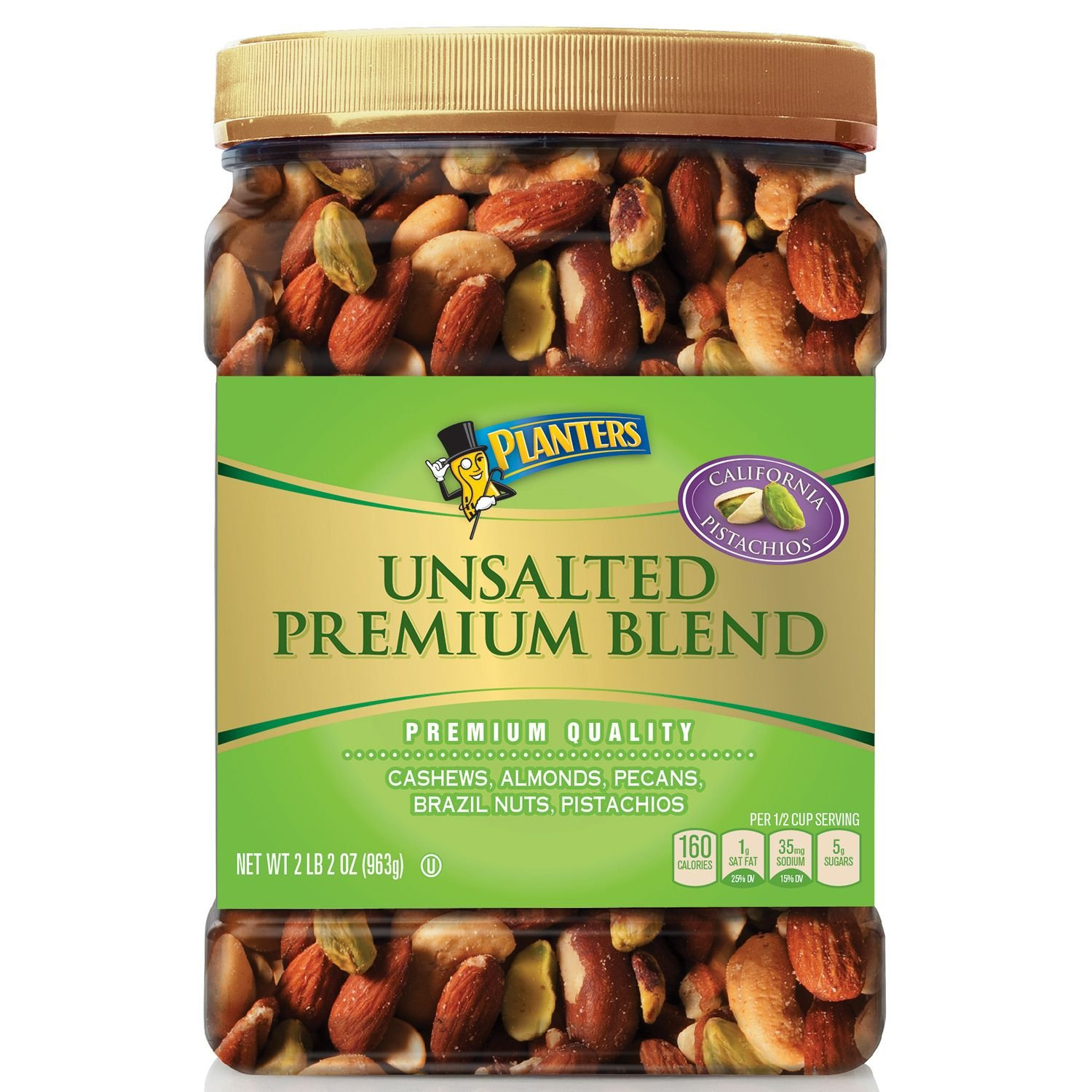 Planters Unsalted Premium Blend (34.5 oz.) (pack of 6) by Planters