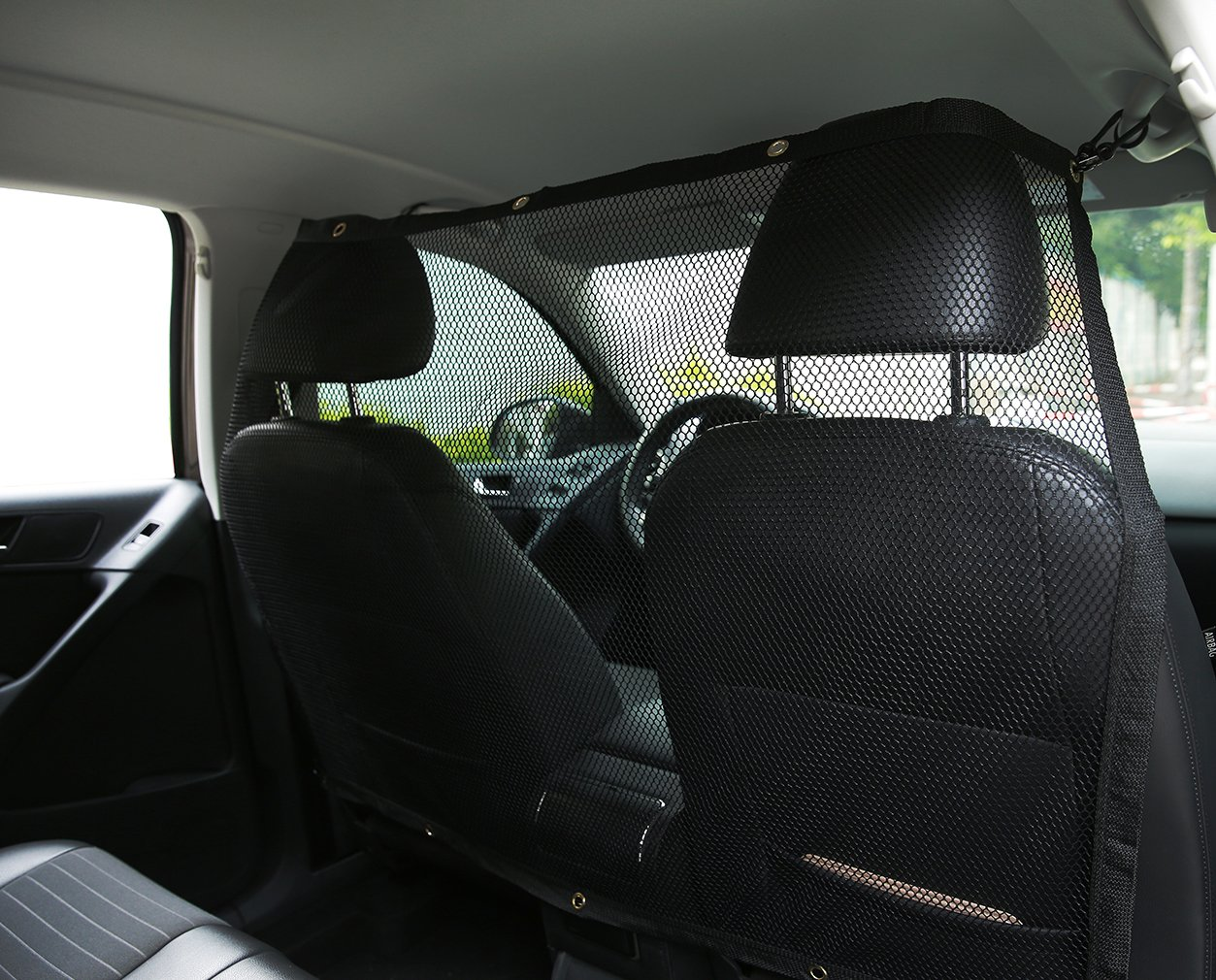 Highland Farms Select Vehicle Pet Barrier - High See Through Net Vehicle Pet Barrier for Cars, Vans, SUV's, and Trucks, Fit Front Seat