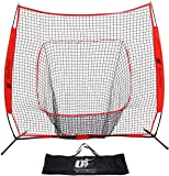 Utopia Fitness Baseball and Softball Net - 7X7 - Strike Zone - Ideal for Practicing, Hitting, Pitching, Batting, Catching and Fielding Skill Levels