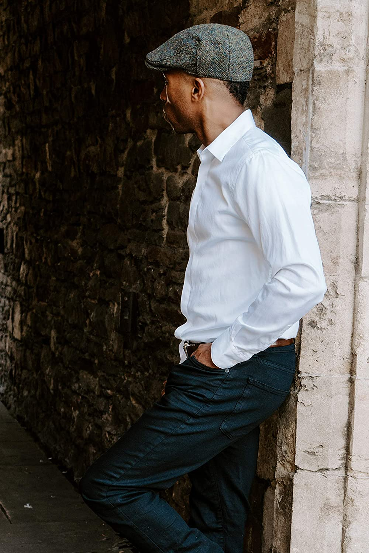 Borges /& Scott Gorra Plana Nevis Harris Tweed Resistente al Agua 100/% Lana Tejida a Mano