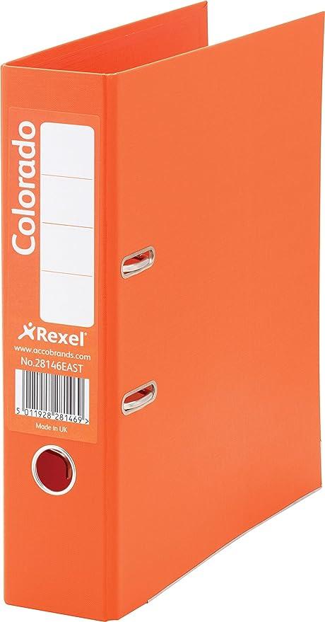 Rexel Colorado - Archivadores, color naranja, 80 mm, 1 unidad ...