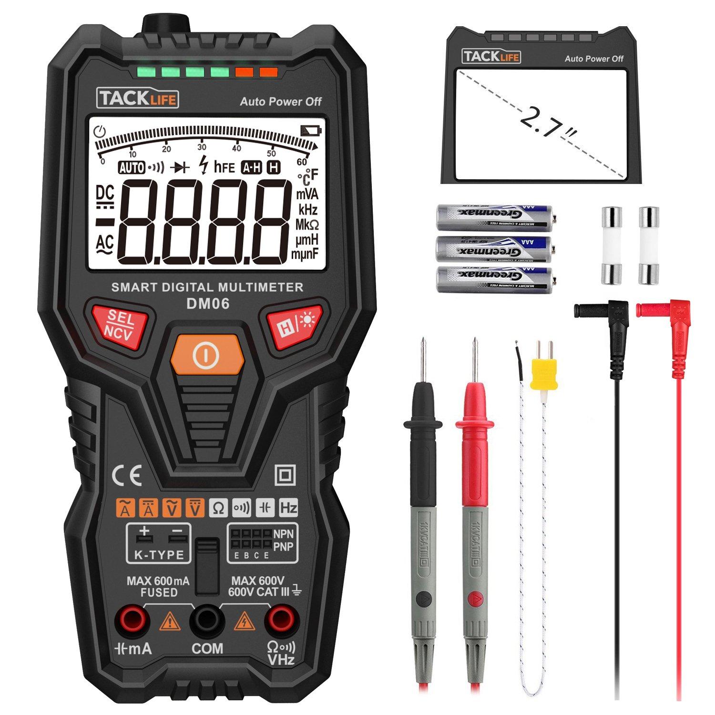 Tacklife DM06 Premium Digital Vollautomatisches Multimeter mit 6000 Counts Spannungsmesser DEAKKOB122723-SY