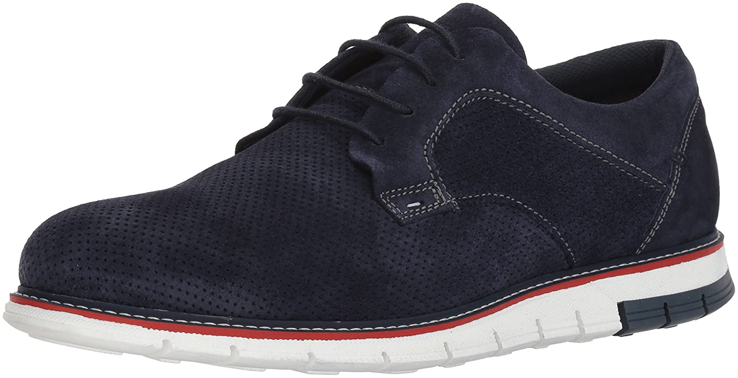 ARA Womens Low Top Lace Up Fashion Sneakers, Navy Suede