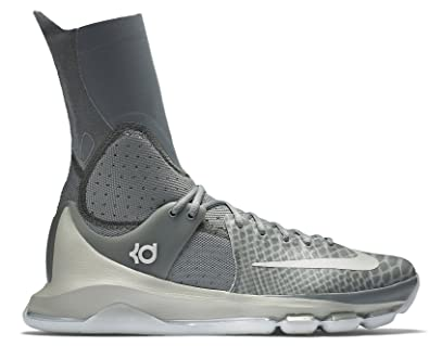 new product a6250 2d29d Nike KD (Kevin Durant) 8 Elite Grey Men s Basketball Shoes (834185-001