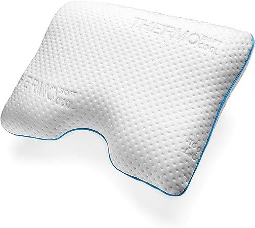 sofi Side Sleeping Orthopedic Memory Foam Pillow Cooling Vents PCM Heat Regulating Case