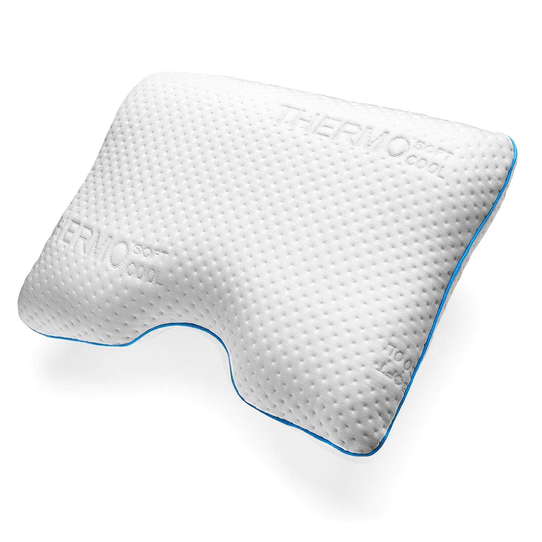 Sofi Seitenschläferkissen – Ergonomisches Kopfkissen für Seitenschläfer aus Viskoelastischem Memory Schaum – Thermoregulierender Bezug