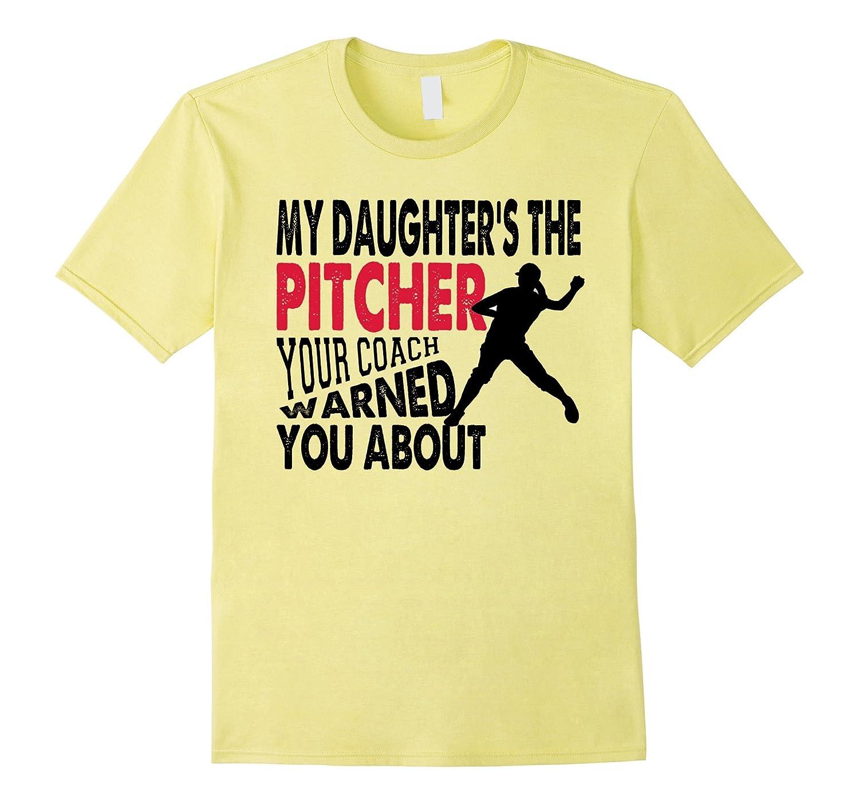 Softball pitcher dad & mom funny Baseball t-shirt