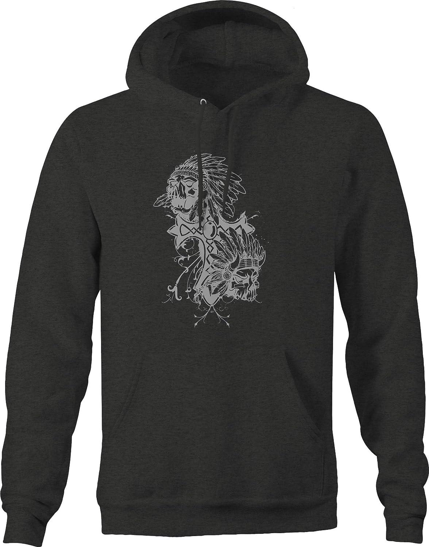 Native American Skull Chief Cross Sweatshirt
