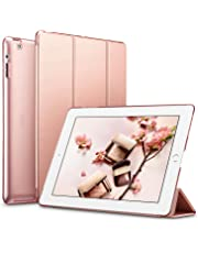 ESR iPad 2 3 4 Case, Ultra-slim Lightweight Smart Case with Trifold Stand and Auto Sleep/Wake Function, Microfiber Lining, Translucent Frosted Back Cover for Apple iPad 2/3/4 Old Versions, Rose Gold