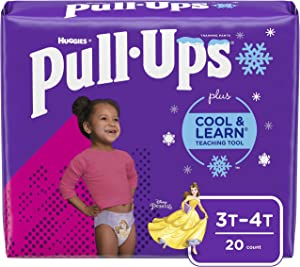 Pull-Ups Cool & Learn Girls' Training Pants, 3T-4T, 20 Ct