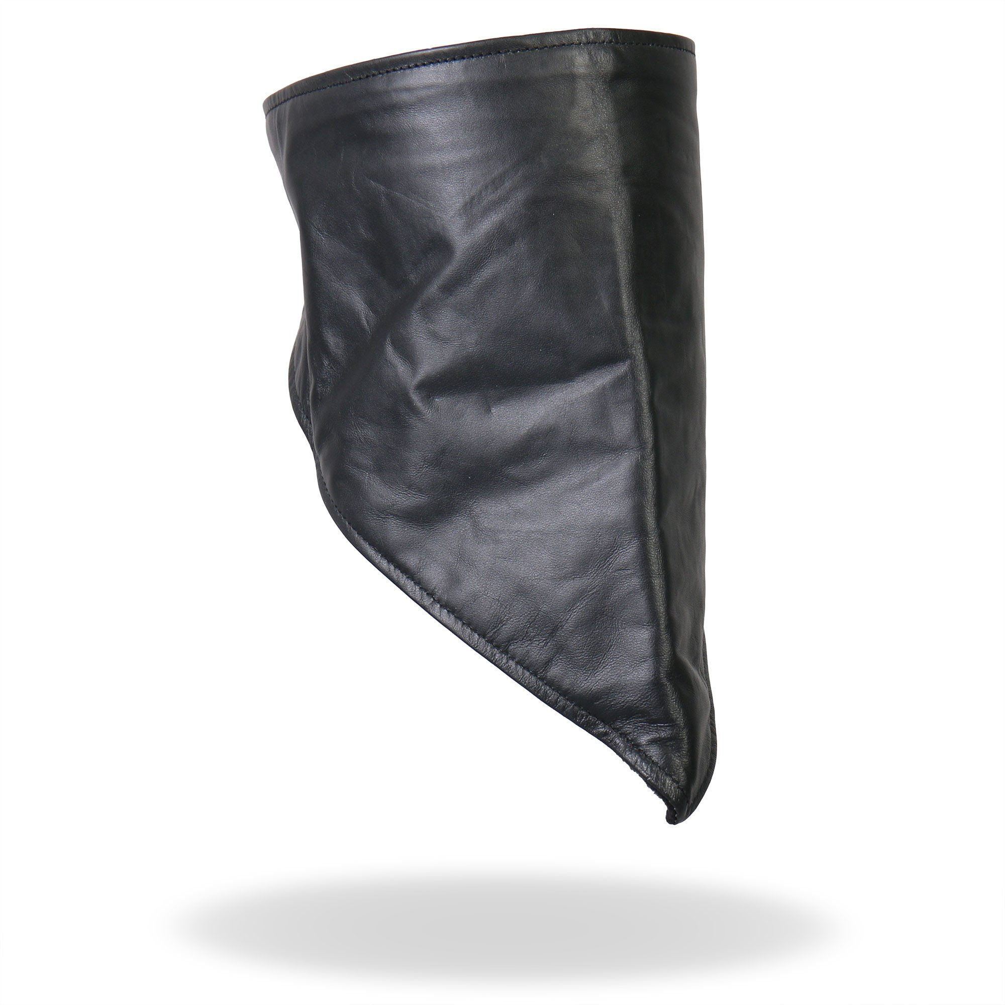 Hot Leathers Leather Neck Warmer with Fleece Lining (Black) by Hot Leathers