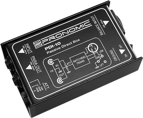 Pronomic PDI-10 DI-Box pasivo (caja de injección directa pasiva ...