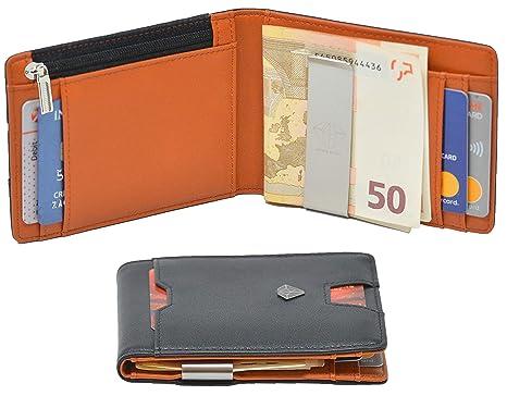06a33834c3 Portafoglio Uomo ANIMA ROYAL Con Protezione RFID, Porta Carte Di Credito Con  Clip Per Contanti
