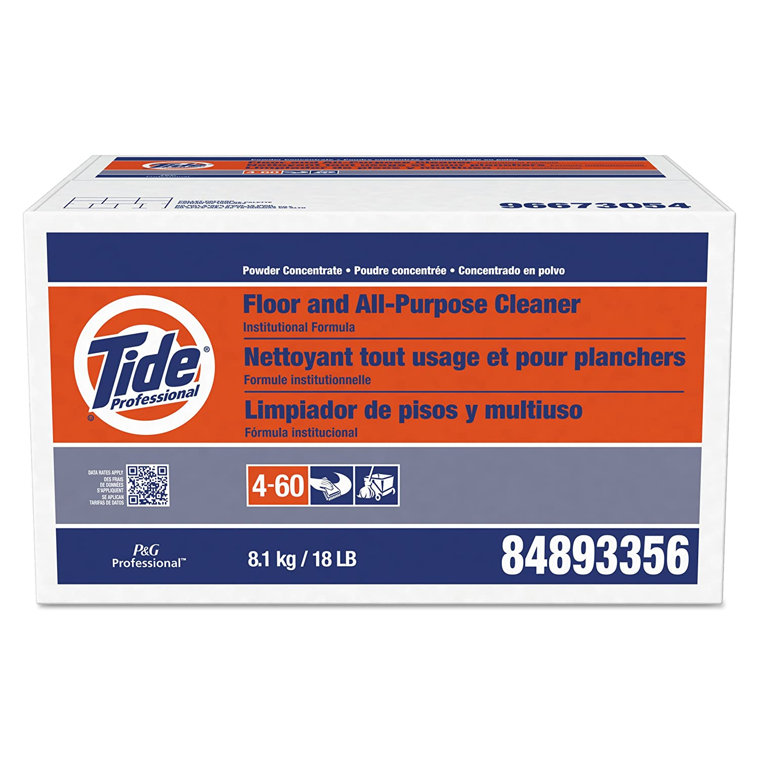 Tide 02370 Institutional Formula Floor & All-Purpose Cleaner, 1.5 Ounces (Case of 100) Procter & Gamble Professional 10037000023705 PAG02370