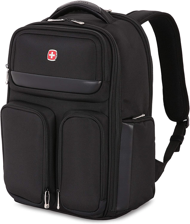 SWISSGEAR Large ScanSmart Utra-Premium 15-inch Laptop Backpack | TSA-Friendly Carry-on | Travel, Work, School | Men's and Women's - Black