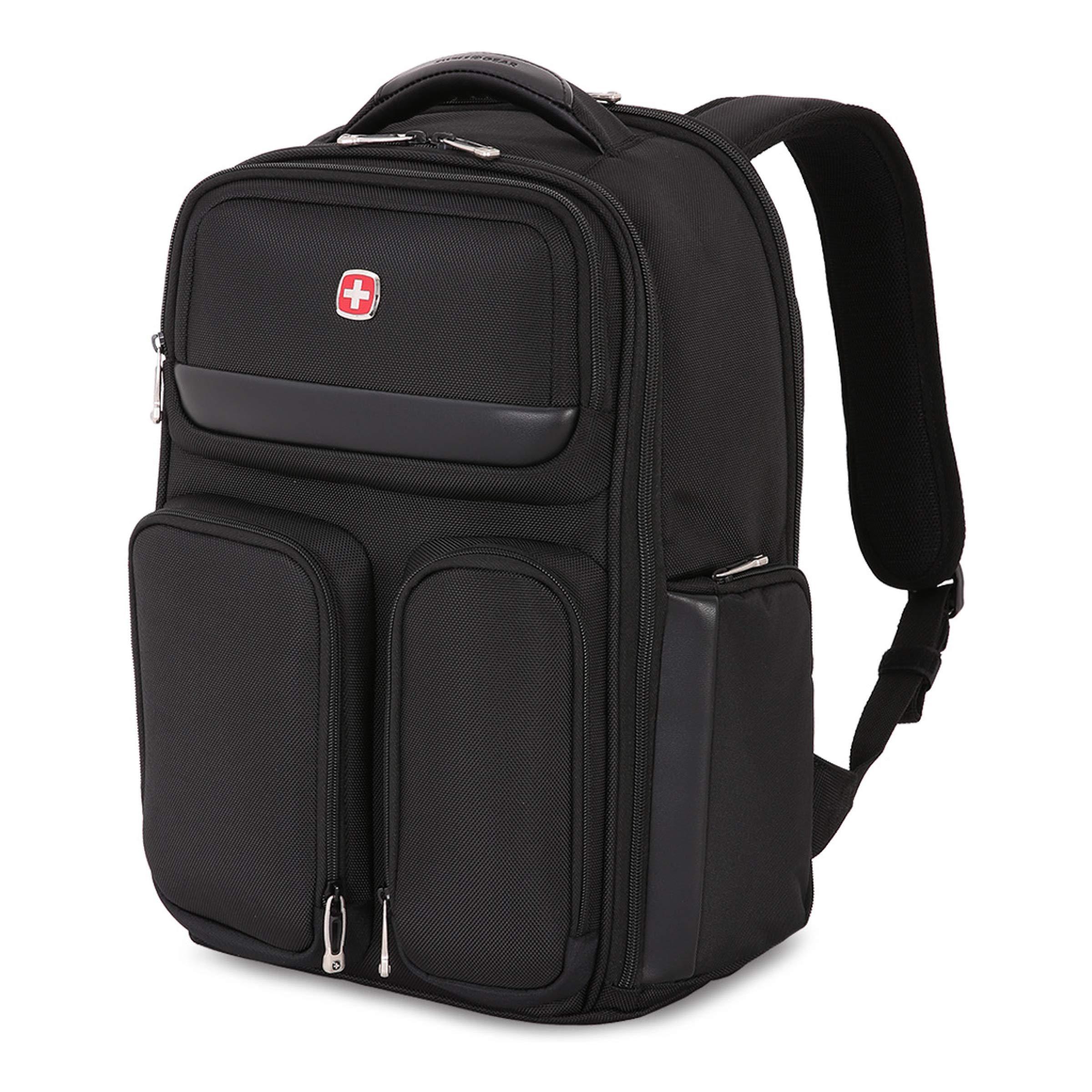 SWISSGEAR Large ScanSmart 15-inch Laptop Backpack | TSA-Friendly Carry-on | Travel, Work, School | Men's and Women's - Black