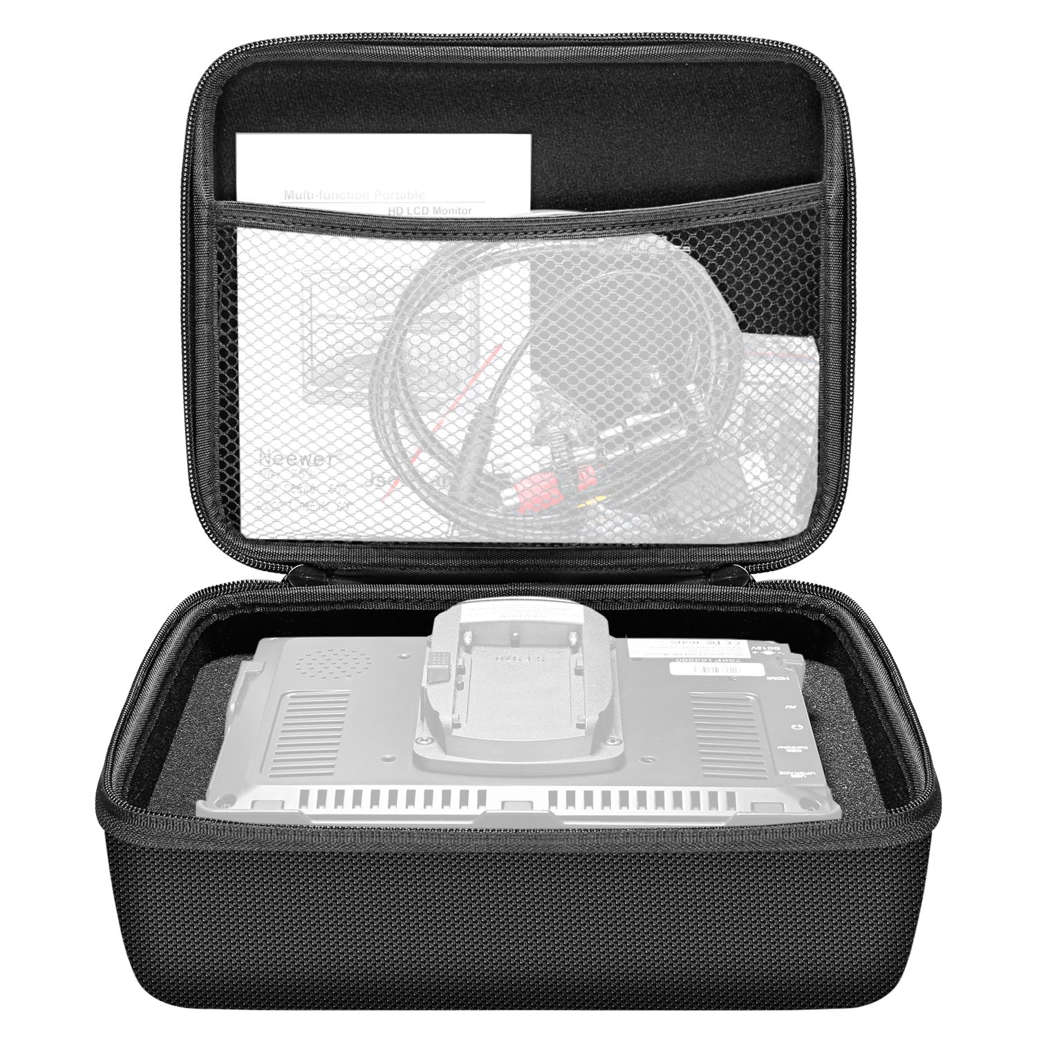 Neewer Portable EVA Monitor Carrying Case for NW759 NW760 NW74k Feelworld FW759 FW760 F7 FW759P FW74K A737 FH7 Lilliput A7S Aputure VS-1 VS-2 FineHD and other 7 Inch DSLR Video Monitors by Neewer