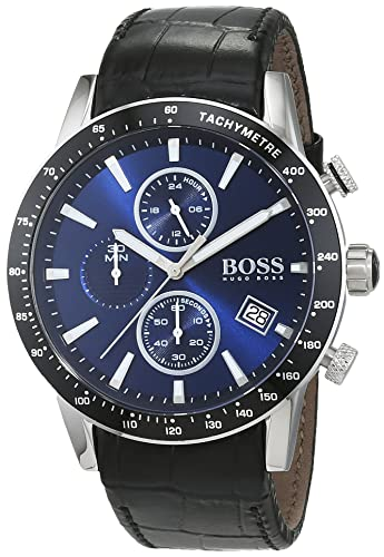 4078f4957 HUGO BOSS Men's Chronograph Quartz Watch with Leather Strap - 1513391: Hugo  Boss: Amazon.co.uk: Watches