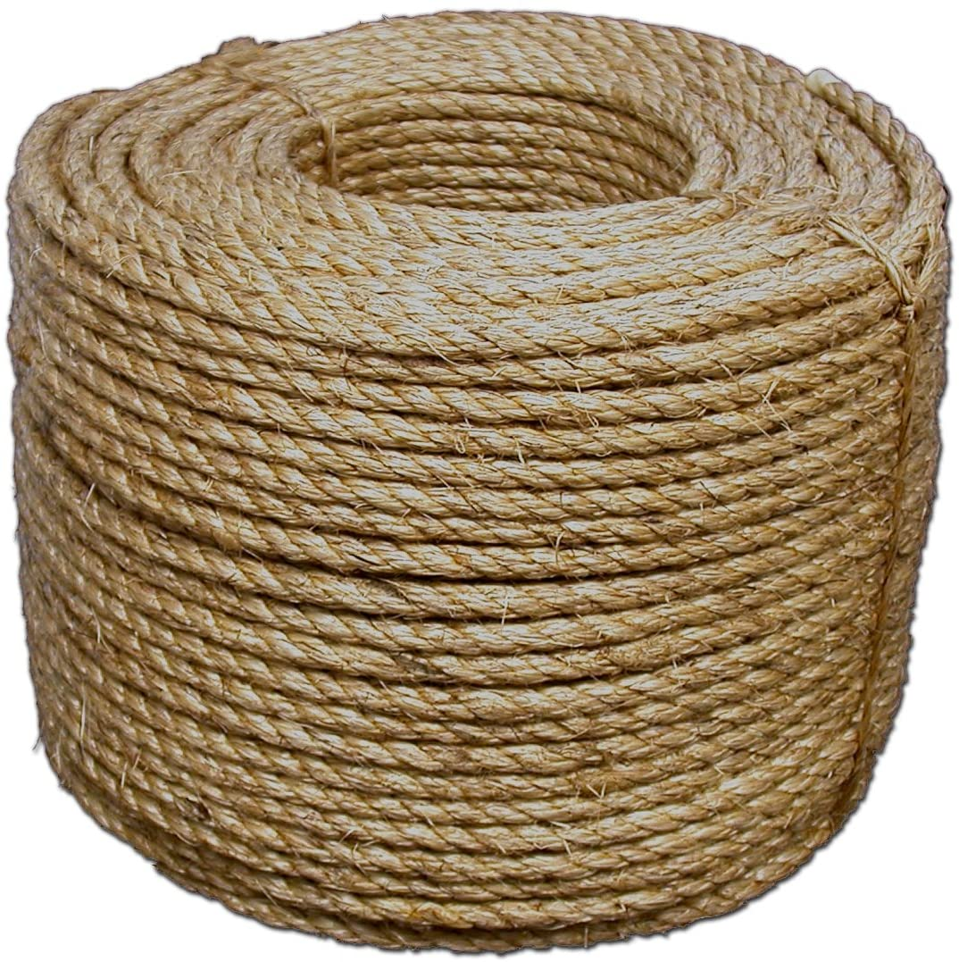 2pcs x 300feet 600Feet Jute Rope Durable Twine String for Packing and Art Craft