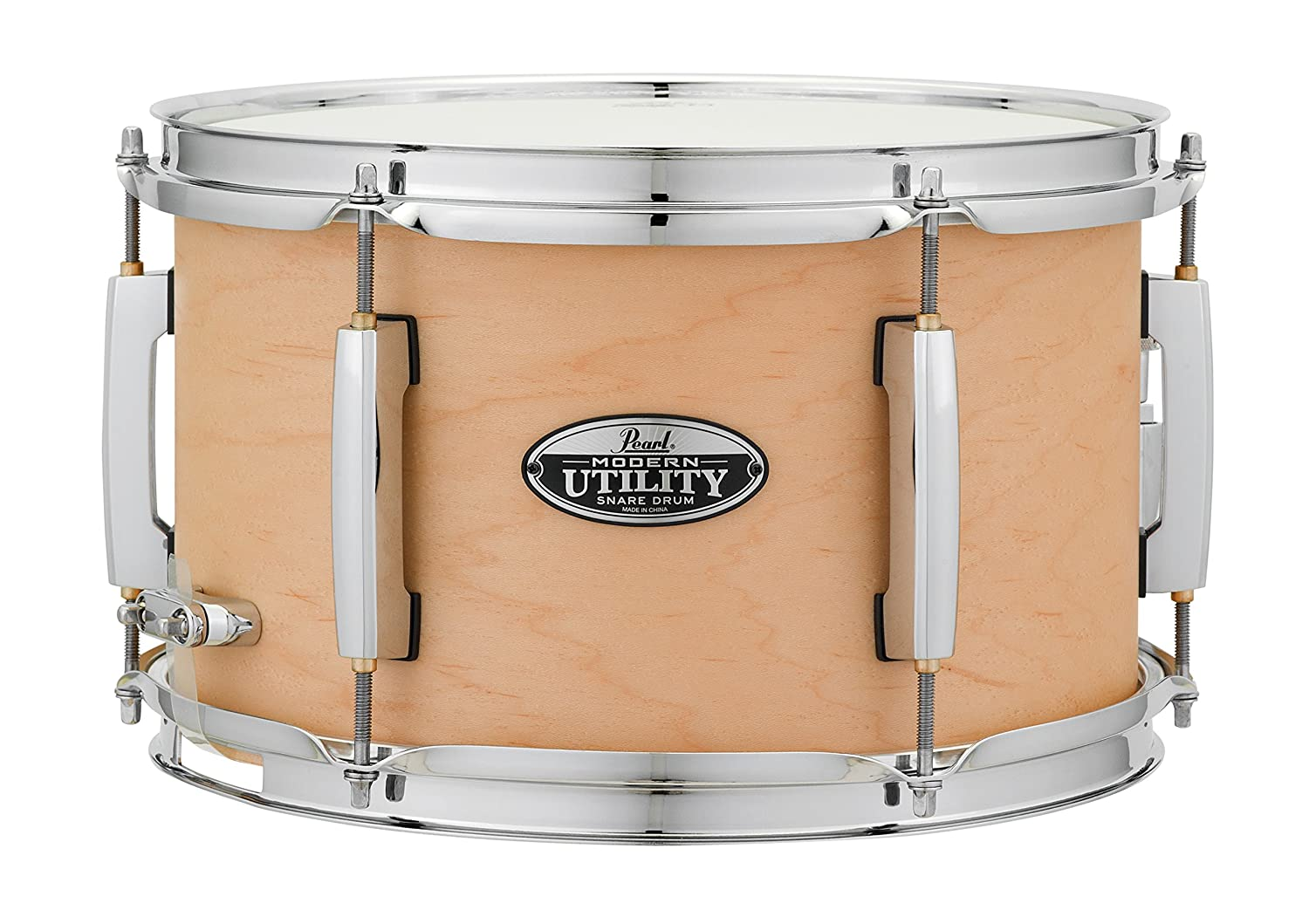 Pearl MUS1270M227 Modern Utility 12x7 Maple Snare Drum, Satin Black Pearl Corporation